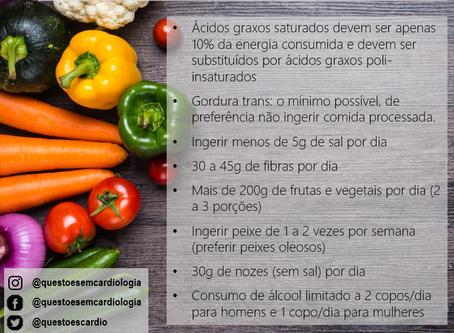 Recomendações de uma dieta saudável para redução do risco cardiovascular