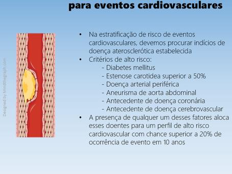 Critérios de alto risco para novos eventos cardiovasculares
