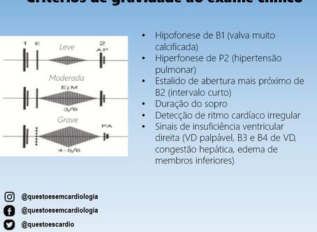 Estenose Mitral: critérios de gravidade ao exame físico