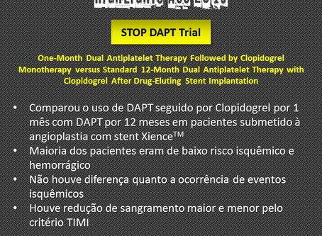 STOP DAPT 2 - DAPT seguida de monoterapia com clopidogrel após 1 mês em pacientes após implante de s