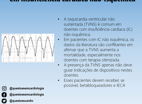 Taquicardia ventricular não sustentada em insuficiência cardíaca não isquêmica