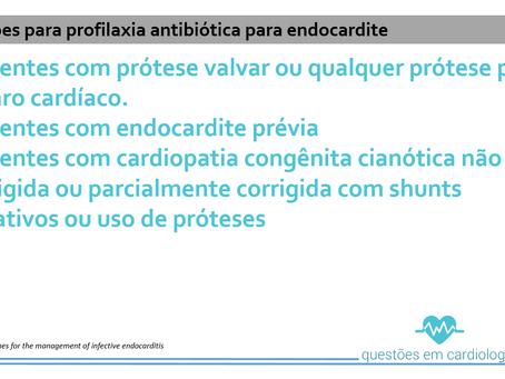 Profilaxia antibiótica para endocardite