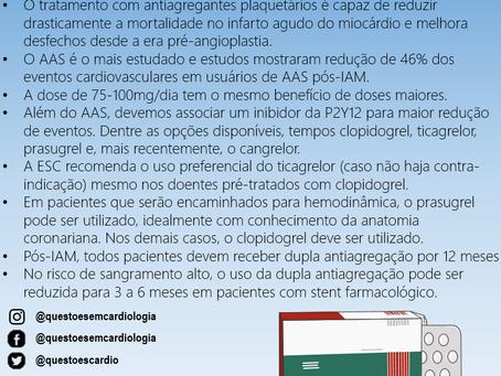 Antiagregantes plaquetários no infarto