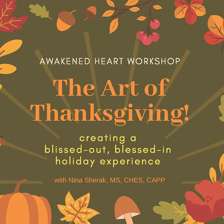 The Art of Thanks Giving