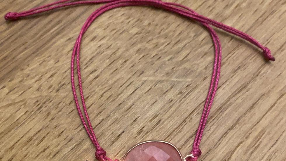 Bracciale pink crystal