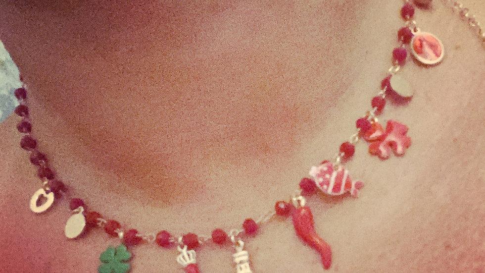 Collana fortunella cornetto rosso