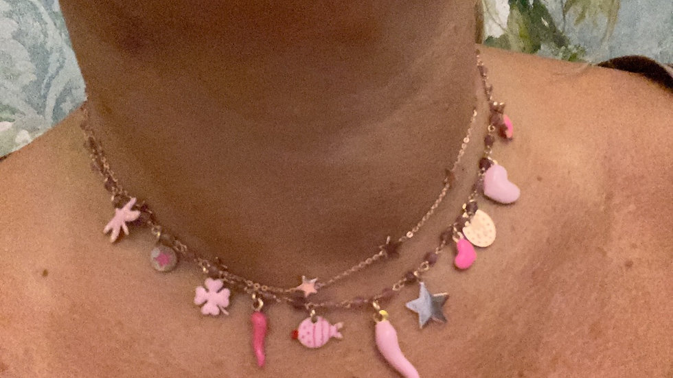 "Collana fortunella ""pink lady"""