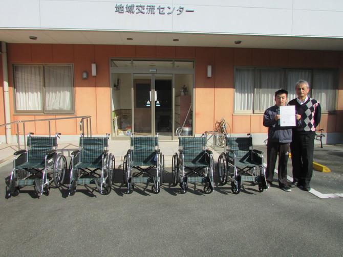 吉田福祉基金より車椅子をいただきました!
