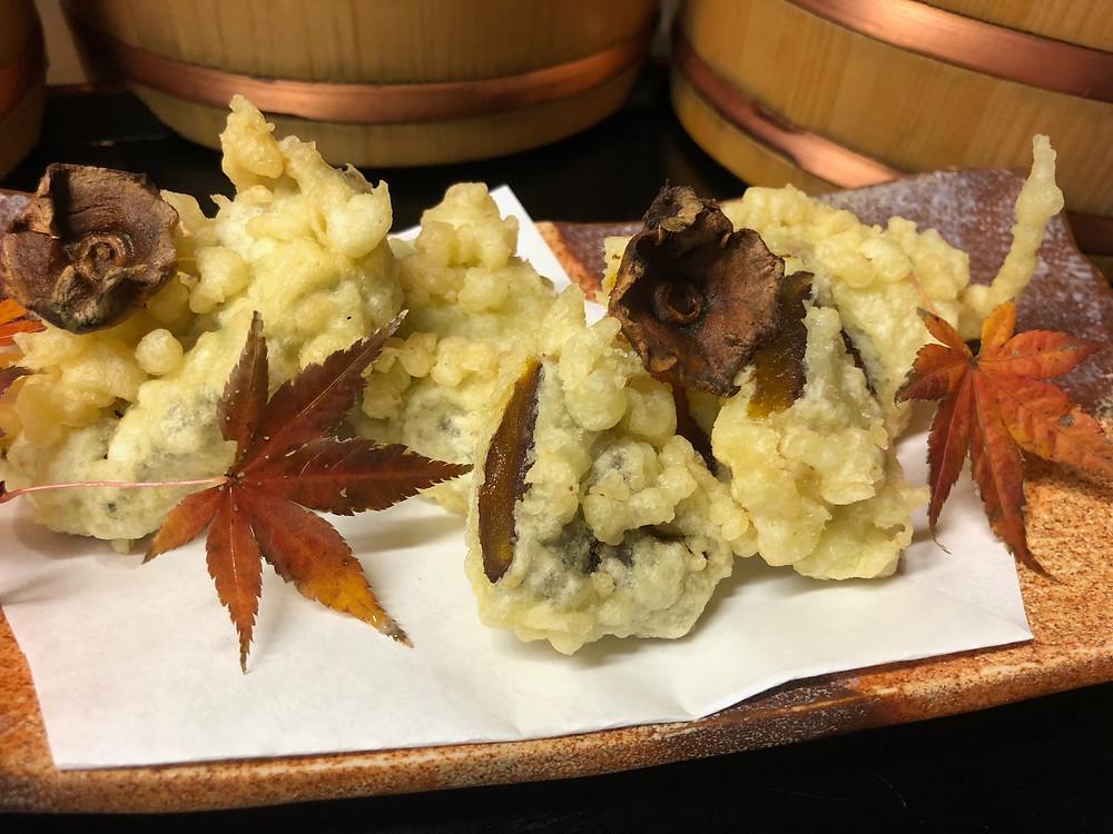 干し柿の天ぷら