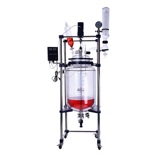 Glass Reactor Single Jacket 50L