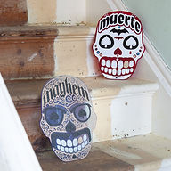 mayhem and muerte on stairs.jpg