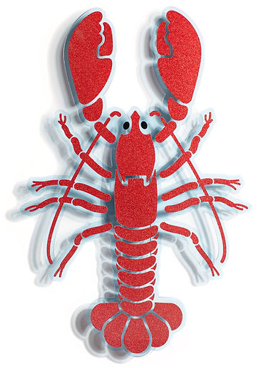 Red lobster acrylic artwork
