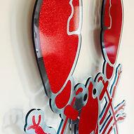 lobster acrylic wall art