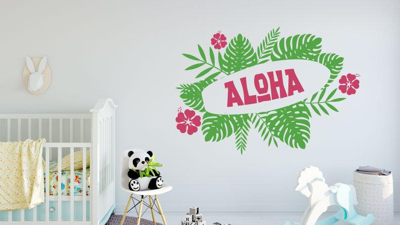 Découpe Murale Aloha