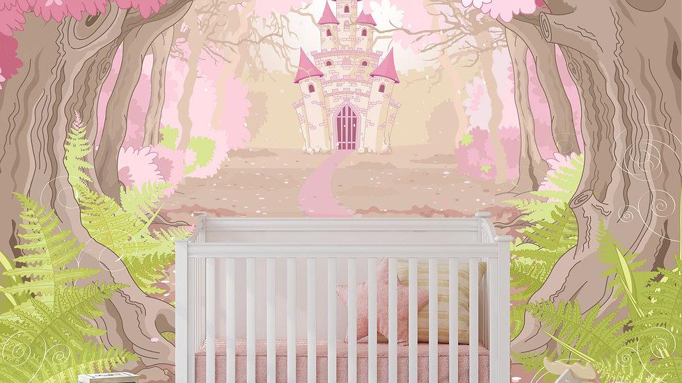 Murale 'Princesse' 10'x8'