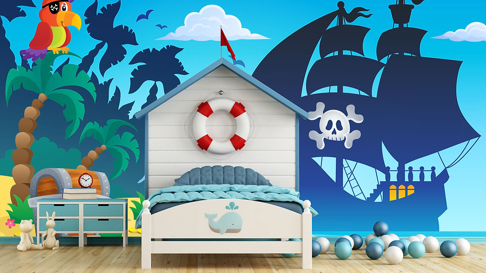 Murale 'Pirates' 10'x8'