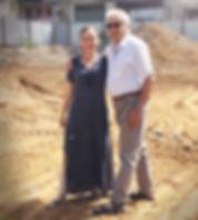 גדעון וקרין וגר באתר בניה
