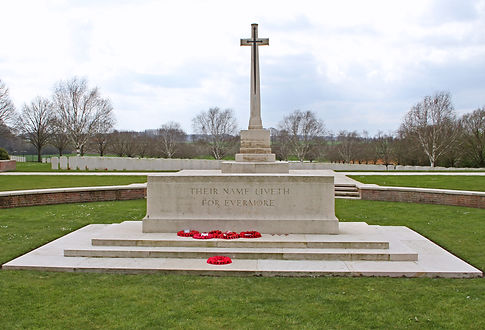 The Cross of Sacrifice at Hooge Crater Cemetery