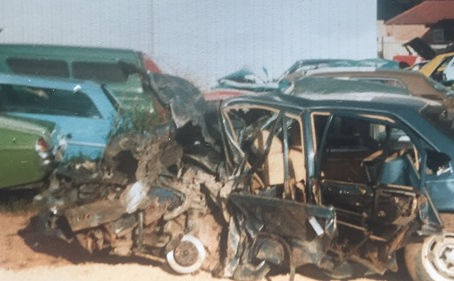 """Lucky to be alive! A fatal car crash from when I was 19 years young in South Australia."