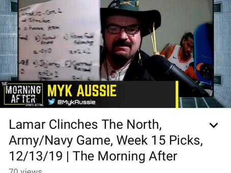 """Updated Dec 20, 2019. """"MMMM, My MoneyLine Multi Mathematics"""" equation for NFL Picks!"""