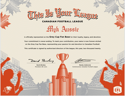 Updated April 26, 2021. CFL Aug 5! CFL and XFL! Grey Cup Fan Base article! CFL Grey Cup Festival!
