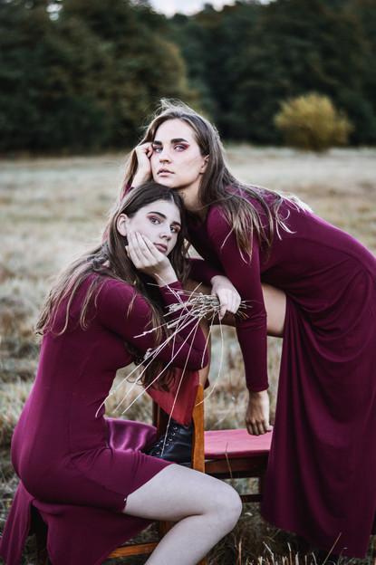 """Personal project """"Visions"""" Models - Alesia Voronko + Uljana Miloserdova"""
