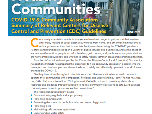 CAI: Healthy Communities During Covid-19