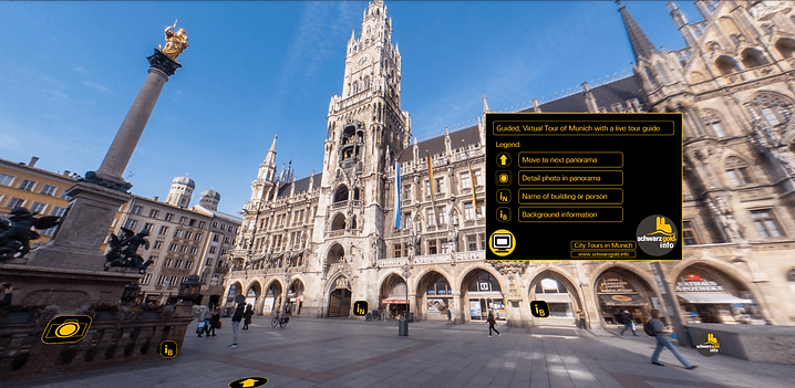 Example virtual tour in Munich