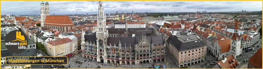 Altstadt Stadtführung München - Panorama mit Neuem Rathaus und Frauenkirche
