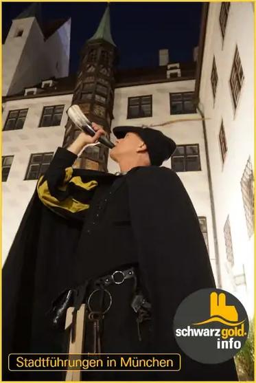 Nachtwächter Stadtführung München mit Rufhorn
