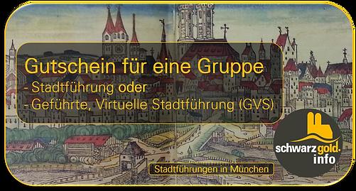Gutschein Stadtführung München