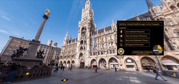 Virtuelle Stadtführung in München Werbetour / Beispieltour