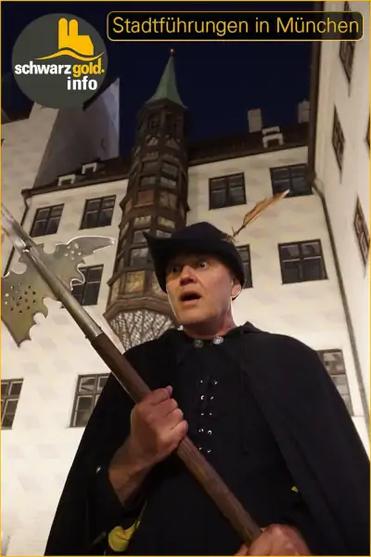 Nachtwächter Stadtführung München - Wolfram im Alten Hof
