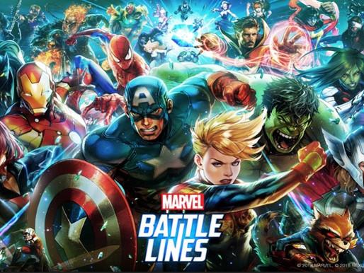 Jogo de estratégia Marvel Battle Lines