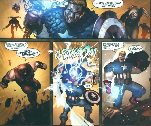 Capitão América e Mjolnir