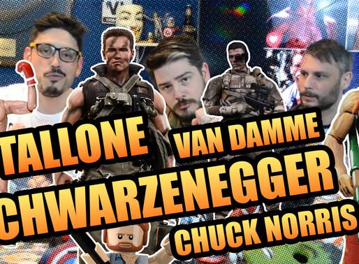 Schwarzenegger, Stallone,Chuck Norris e Van Damme   Fusi Kombat