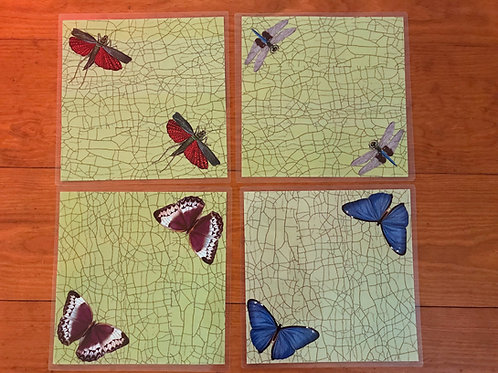 Siecle Paris Laminated Placemats - Butterflies & Fireflies