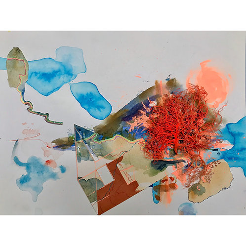 ANNIE VARNOT | Flight of Fire Watercolor/Mixed Media