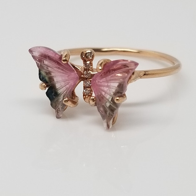 Tourmaline Butterfly Ring