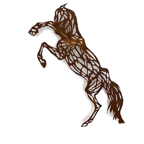 WENDY KLEMPERER | Rearing Horse Steel Silhouette
