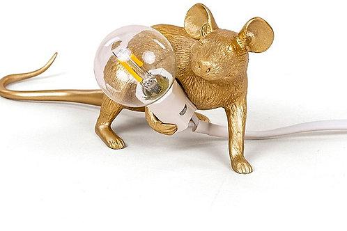 Gold Mice Lamp