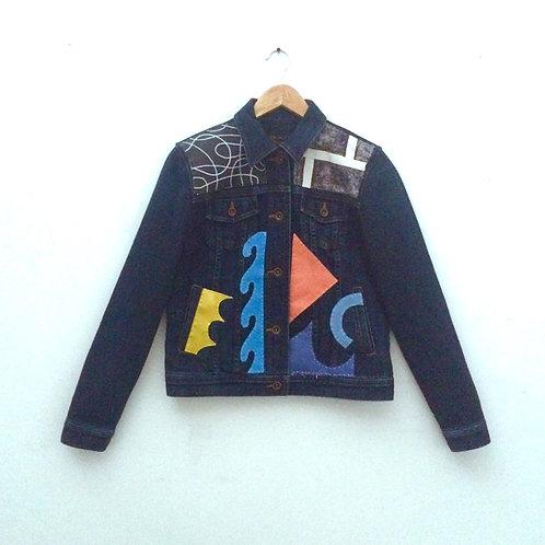 Stephen Proski Art Denim Jacket - women's size M