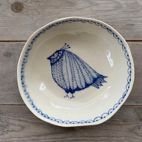 Spako Clay Pasta Bowl (serving bowl) with bird