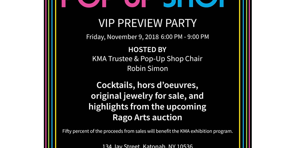 Katonah Museum VIP Preview for Outrageous Ornament Pop Up