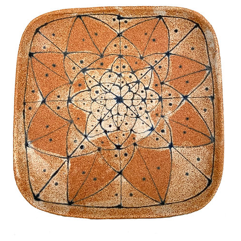 Rustic Square Stoneware Platter by Spako Clay