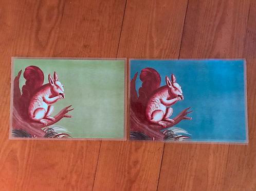 Siecle Paris Squirrel Placemats
