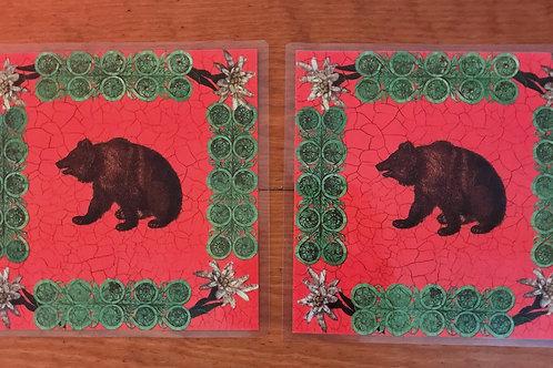 Siecle Paris Laminated Placemats - Bears