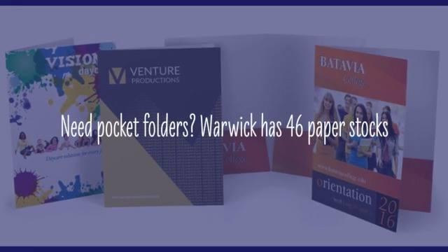 Warwick - Pocket Folders