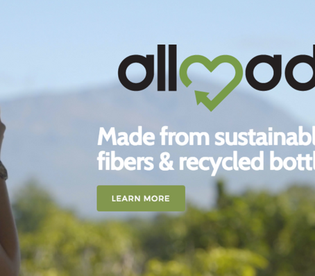 Allmade. Made from sustainable, natural fibers & recycled bottles.