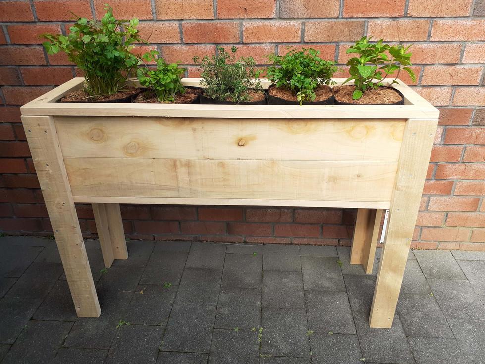 Rustic 5 bag herb or 4 bag leafy green garden